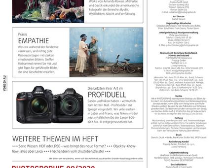 Artikel in der PHOTOGRAPHIE 9/2020!