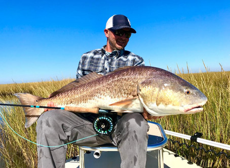 FLYFISHING FOR LOUISIANA REDFISH