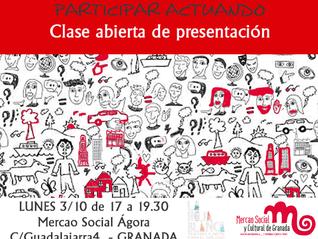 PARTICIPAR ACTUANDO: clase abierta de presentación. 3 de Octubre.