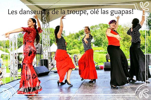 Daneuses de l'école Flamenco Si Julie Perreault lors d mondo Karnaval Québec