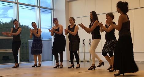 Flamenco Si en répétition à la maison pour la danse de Québec.