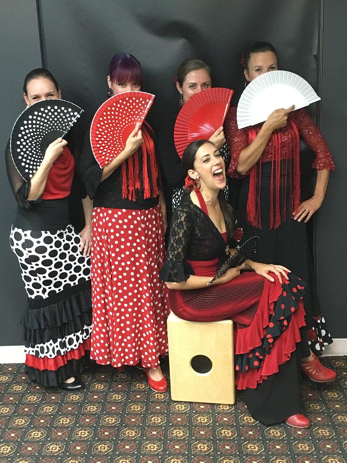 Danseuses troupe Flamenco Si de Québec
