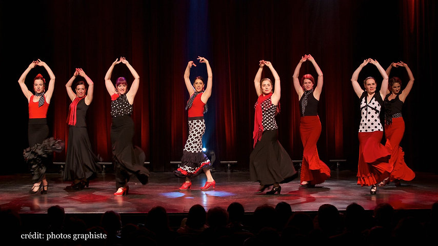 Danseuses de latroupe Flamenco Si Julie Perreault