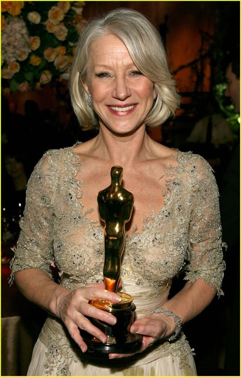Helen Mirren and her Oscar Prize