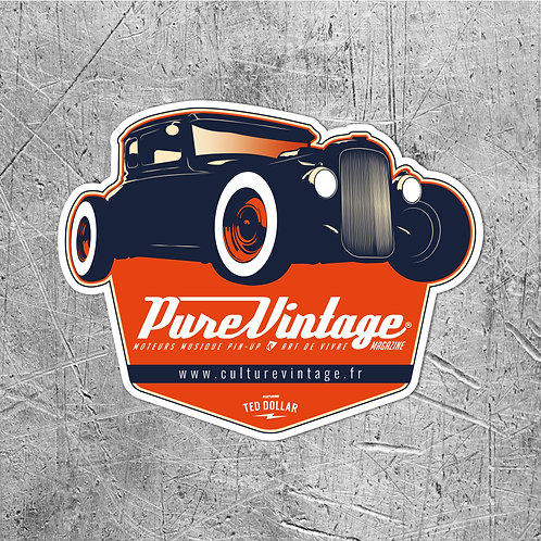 Sticker Pure Vintage Hot Rod
