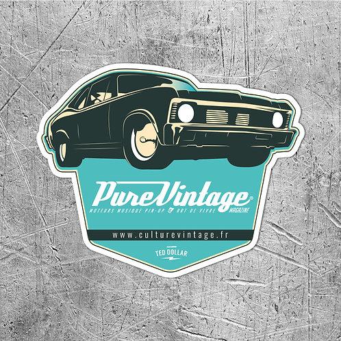 Sticker Pure Vintage Muscle Car