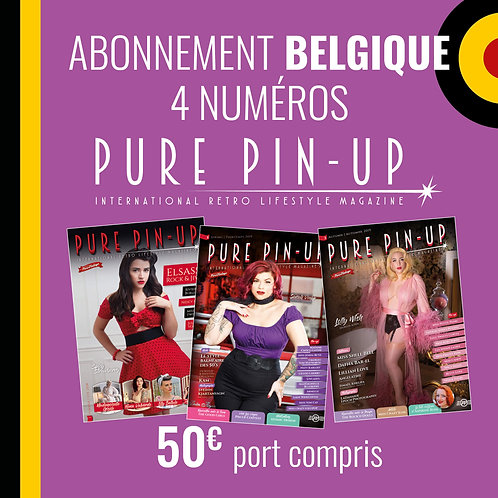 Abonnement Belgique 4 numéros Pure Pin Up Magazine