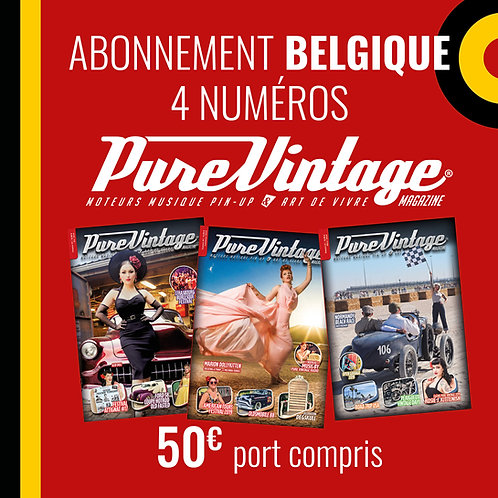 Abonnement Belgique 4 numéros Pure Vintage Magazine
