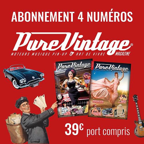 Abonnement France 4 numéros Pure Vintage Magazine