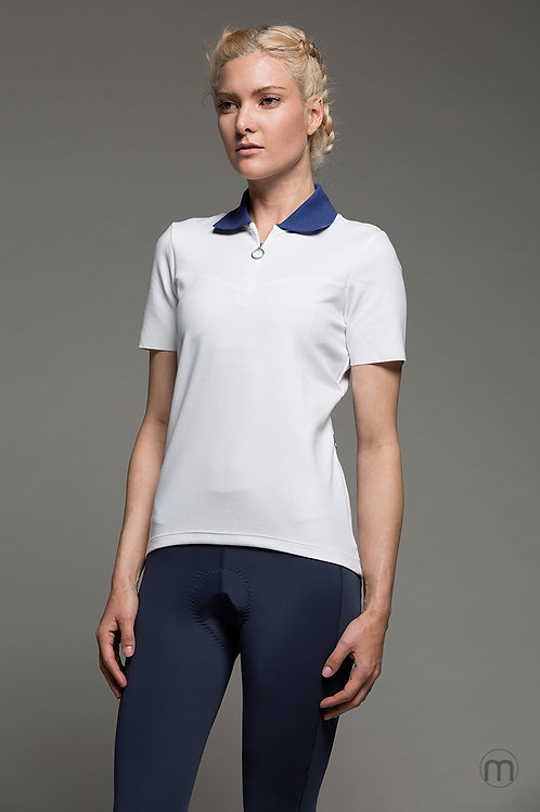 Contrast cycling polo - White/Blue