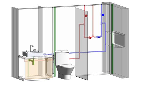 Projetos de Instalações Hidráulicas - BIM