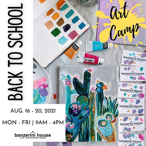 Back To School Art Camp