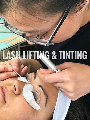 Lash lifting and tinting