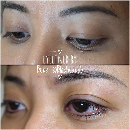 Semi-permanent top & bottom eyeliner