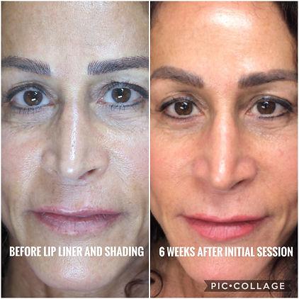 Semi-permanent lip liner & shading