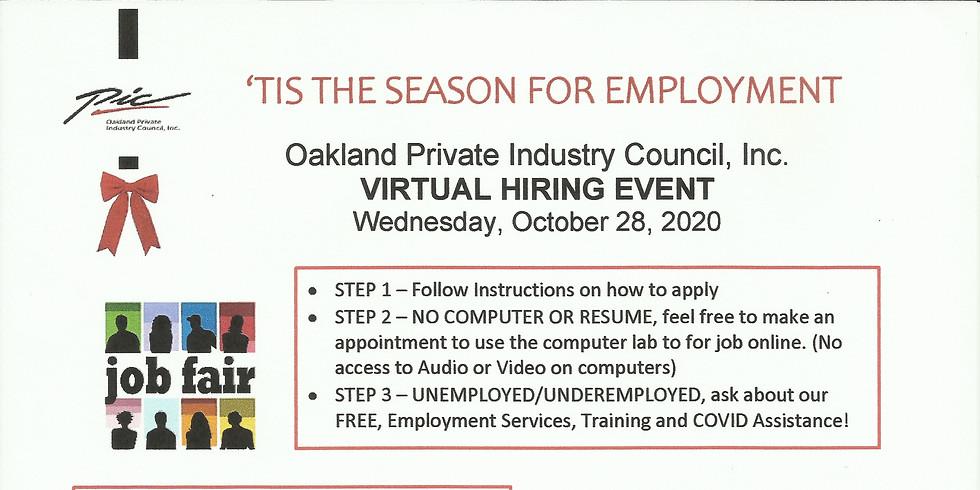 Virtual Hiring Event Wednesday October 28, 2020