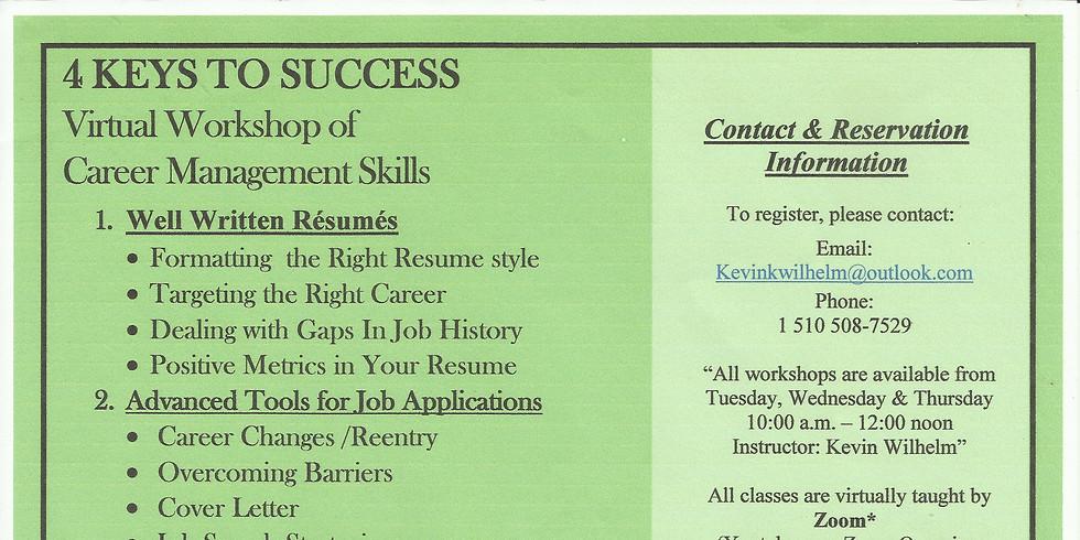 4 Keys to Success- Virtual Workshop of Career Management Skills