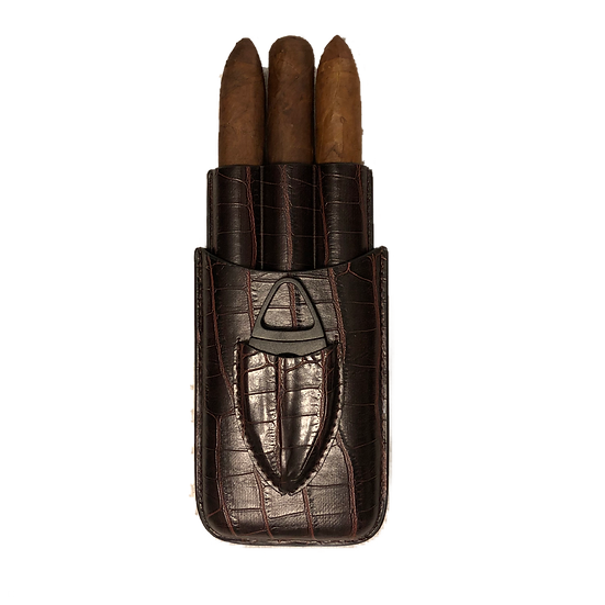 Aficionado 3 Finger Cigar Travel Case