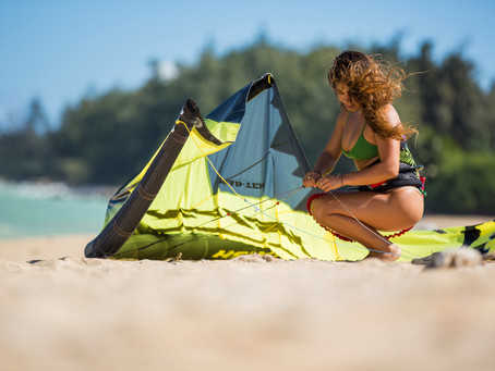 Your first kiteboarding kite