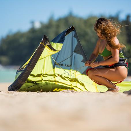 Your first kiteboarding kite