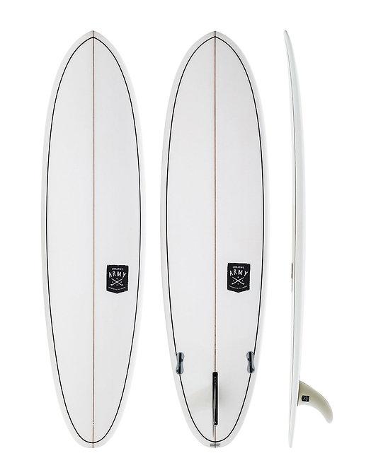 CREATIVE ARMY HUEVO 7'6 SURFBOARD (INCL. FINS)