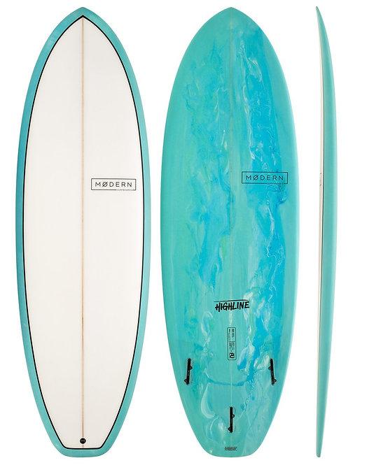 MODERN HIGHLINE 6'4 SURFBOARD (INCL. FINS)