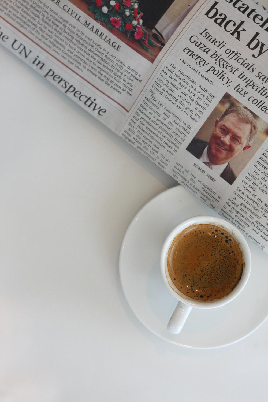 Newspaper & coffee image