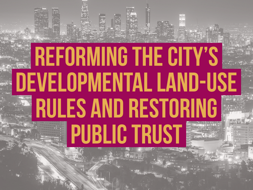 Reforming the City's DevelopmentalLand-Use Rules