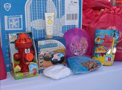 Helping 600 Families Survive the Heatwavewith Summer Fun Packs & Fans