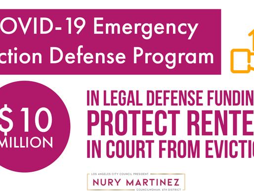 Establishing a COVID-19 Emergency Eviction Defense Fund