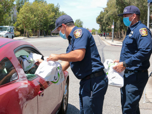 Joining with our LA City Firefighters to Provide 250 Meals to Low-Income Families