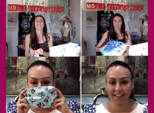 Virtual Sew-A-Thon with Hillary Cohen, Making Masks for Children in Need