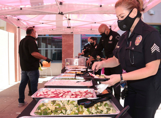 Thanking Our First Responders at LAPD Mission Police Station