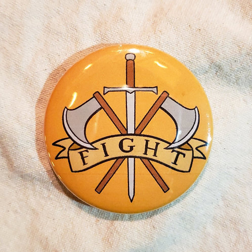 """FIGHT Dungeons & Dragons Fighter Class 2.25"""" Pinback Button"""