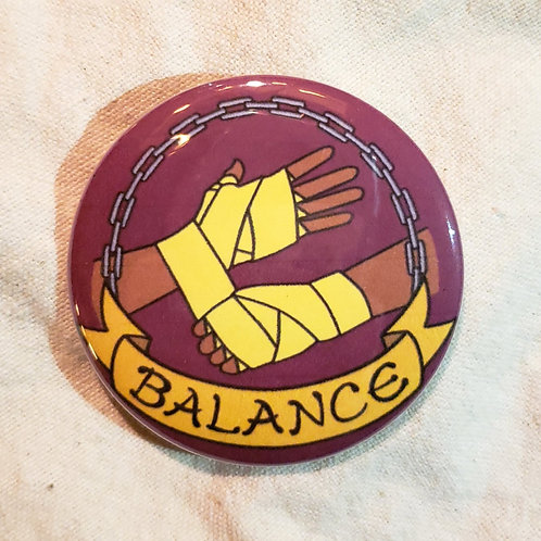 "BALANCE Dungeons & Dragons Monk 2.25"" Pinback Button"