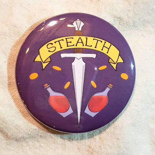 """STEALTH Dungeons & Dragons Rogue 2.25"""" Pinback Button"""