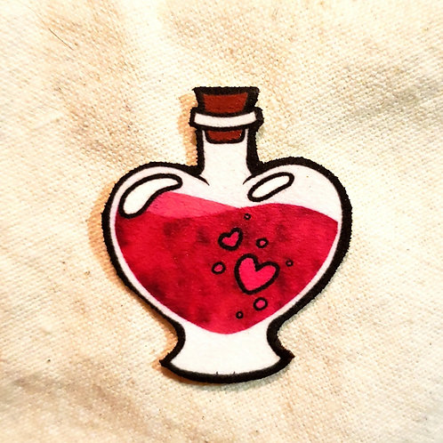 Love Potion Pink Bottle Pin