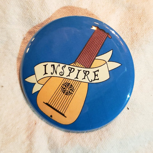 "INSPIRE Dungeons & Dragons Bard Class 2.25"" Pinback Button"