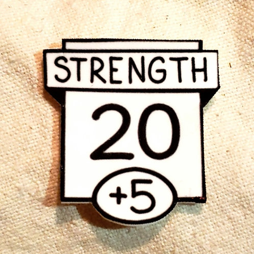 20 Strength Ability Score Pin