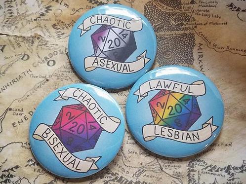 D&D LGBTQ+ Pride Alignment Pins