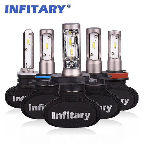 INFITARY S1 LED Car Headllight Bulbs Auto Headlamp 50W 8000LM 6500K 12V 2Pcs