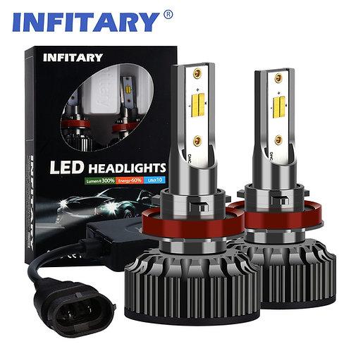 H11 INFITARY A6 LED Car Headlight Bulbs Yellow White Light 3color Auto Headlamp