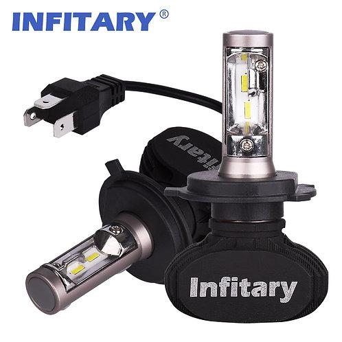 H4 INFITARY S1 LED Car Headllight Bulbs Auto Headlamp 50W 8000LM 6500K 12V 2Pcs