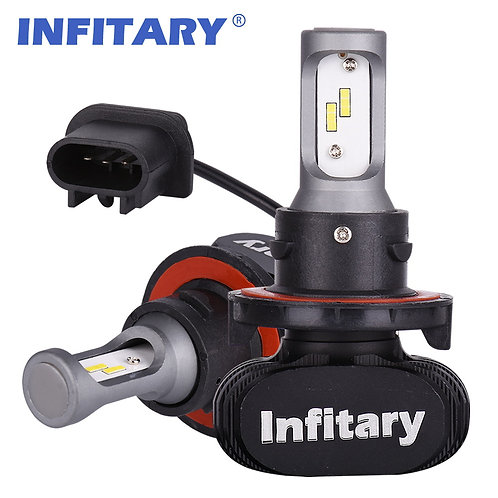 9004 INFITARY S1 LED Car Headllight Bulb Auto Headlamp 50W 8000LM 6500K 12V 2Pcs