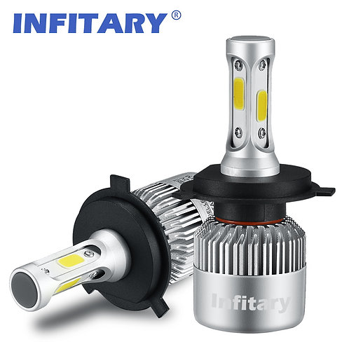 INFITARY S2 LED Car Headlight Bulbs 72W 8000LM 6500K Auto Headlamp 12V 2 Pcs