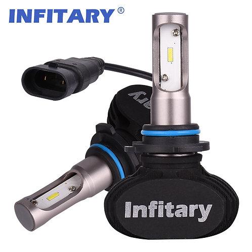 9006 INFITARY S1 LED Car Headllight Bulb Auto Headlamp 50W 8000LM 6500K 12V 2Pcs