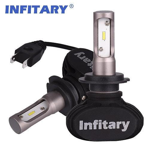 H7 INFITARY S1 LED Car Headllight Bulbs Auto Headlamp 50W 8000LM 6500K 12V 2Pcs