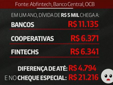 Para GloboNews, cooperativas e fintechs são alternativas aos juros altos dos bancos