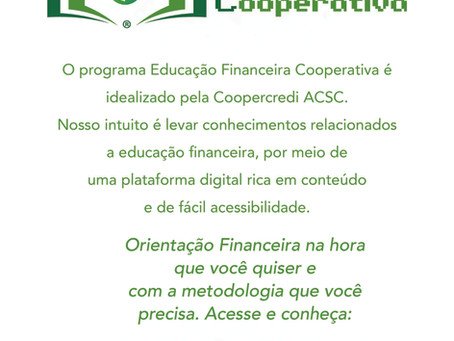 EFC - Educação Financeira Cooperativa está no ar!