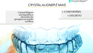 Crystal Aligner é mais resistente à manchas